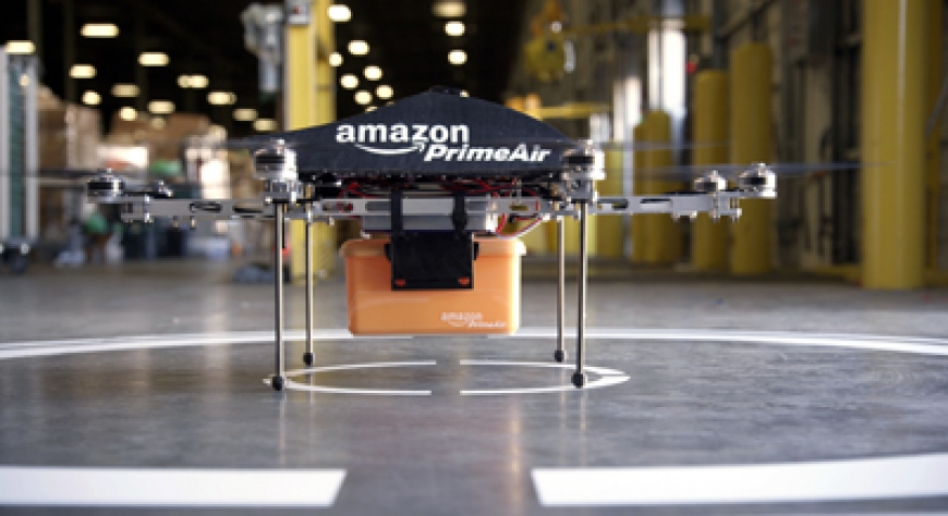 Amazon Tests 30-Minute Delivery Via Helicopter Drones