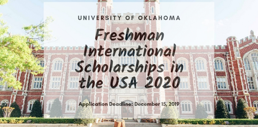 University of Oklahoma Freshman international awards in the USA 2020